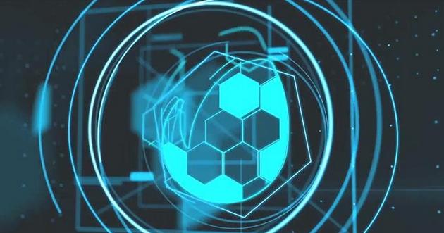 未来科技空间线性变化展现企业LOGO标志动画揭示模板