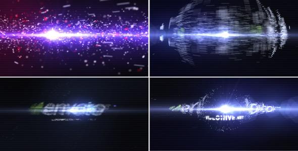 [ae模板] 粒子聚合炫酷特效展示logo