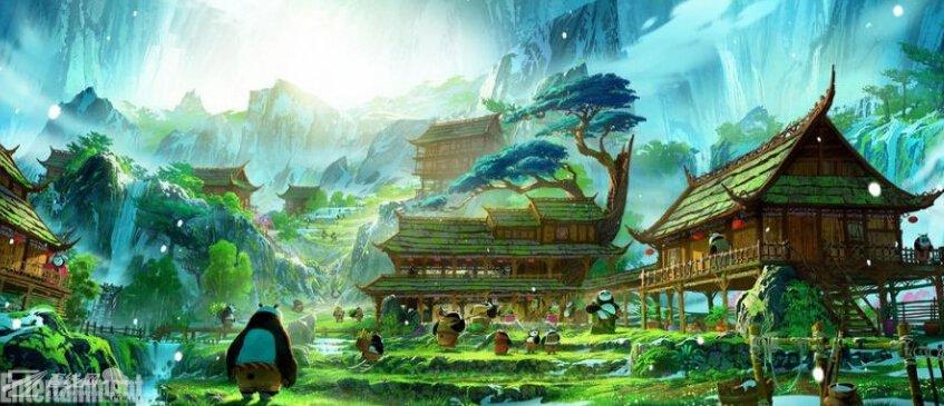 《功夫熊猫3》熊猫谷概念设计图曝光