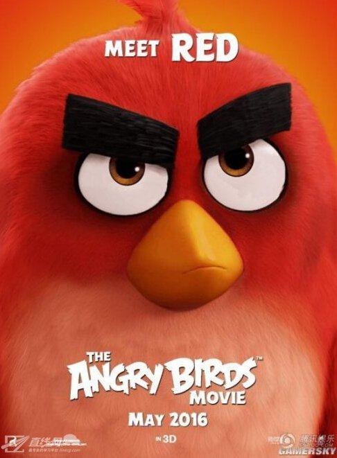 动画电影《愤怒的小鸟》发布人物海报