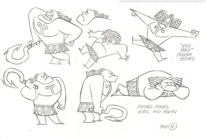 迪士尼动画电影《海洋奇缘》概念设计手稿