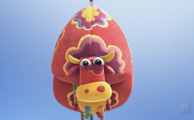 最后,小牛如愿和小老鼠挨在了一起,而杠杆的平衡仍然存在.