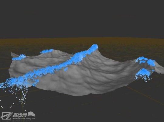 海面曲线 矢量图