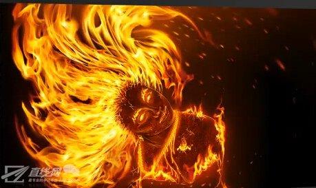 ps火焰人像特效制作视频教程9