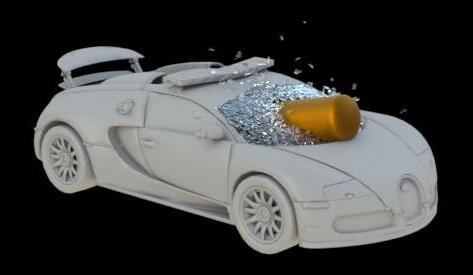 houdini16制作弹击碎汽车玻璃效果