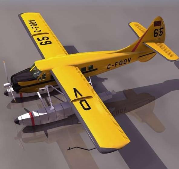 水上飞机模型