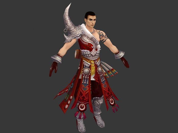 古代美男子3d模型 - 下载页面图片