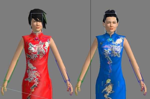 旗袍女3d模型_下载页面_直线网_最专业的数字艺术学习