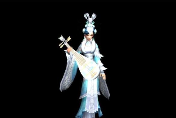 琵琶旗袍卡通图片