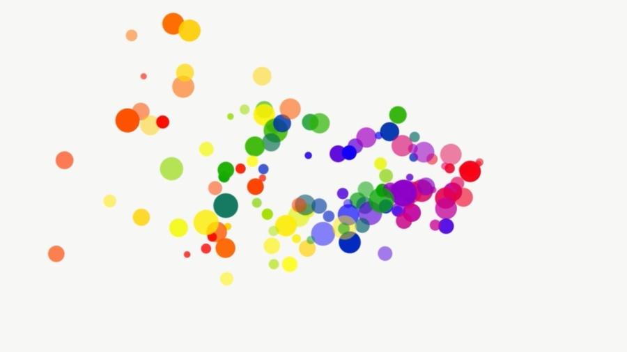 直线彩虹带矢量图
