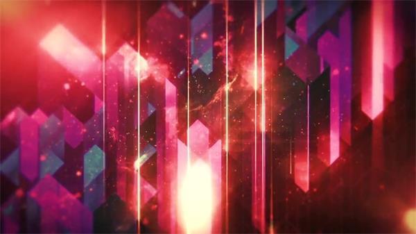 炫彩流星雨太空粒子动态led背景视频素材