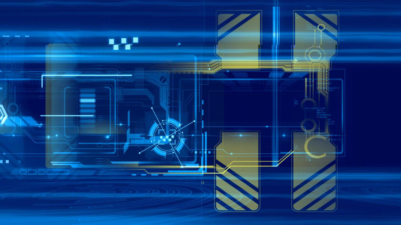 [视频素材] 3个科技商务炫丽蓝色透明背景高清背景视频素材