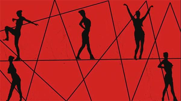 创意独特开场素材vj秀跳舞蹈劲舞人屏互动led舞台背景视频素材