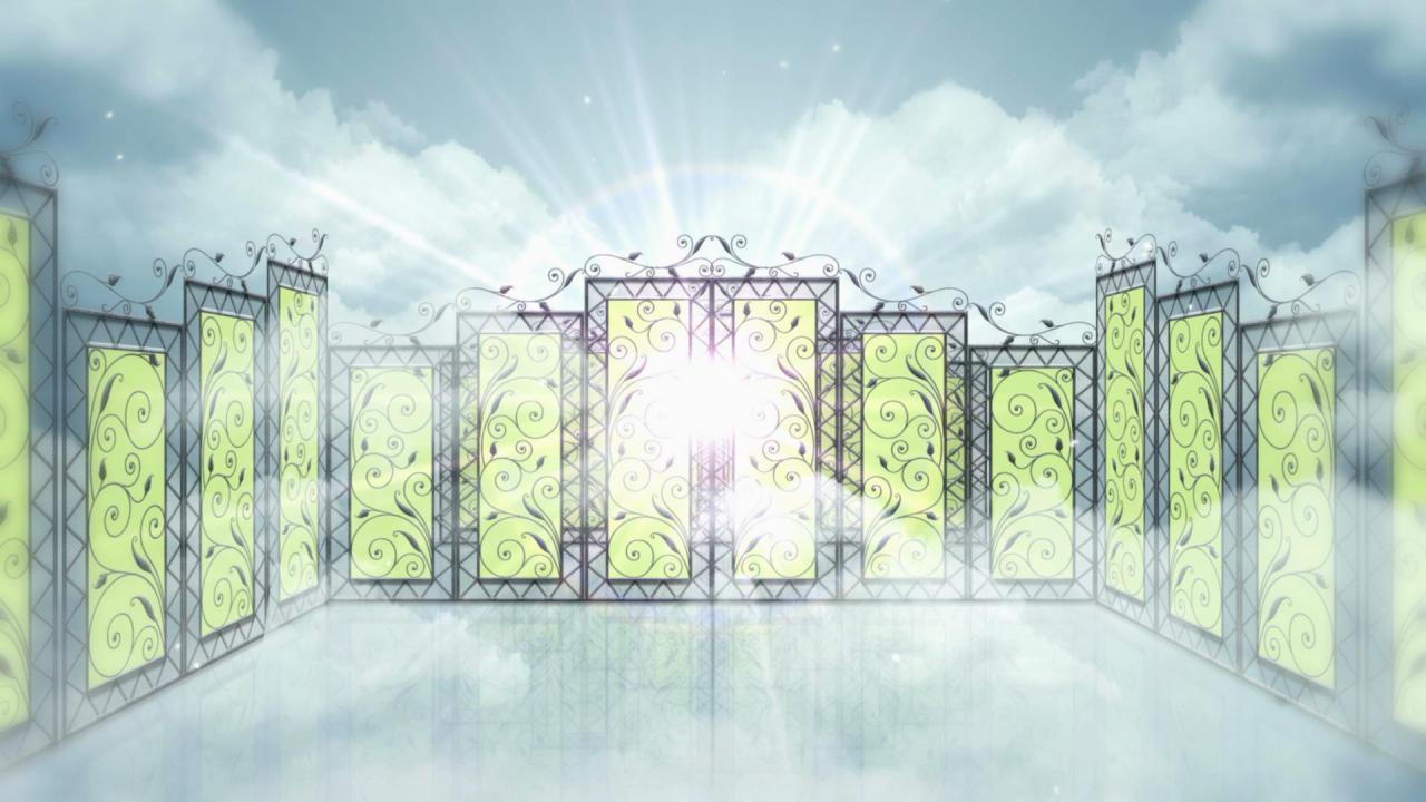 天堂门门帘高清背景视频素材