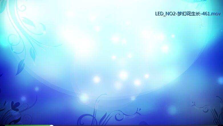 蓝色梦幻 花纹生长高清动态背景视频素材