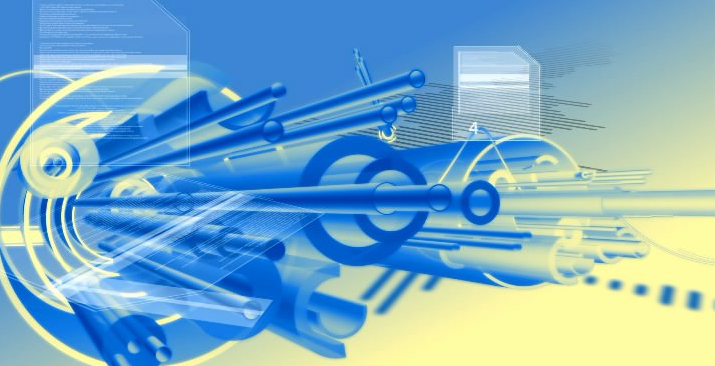 蓝色管道运动 科技生产背景 高清动态视频素材