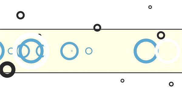 现代扁平化圆形边框变化线条分割幻灯片底框视频素材