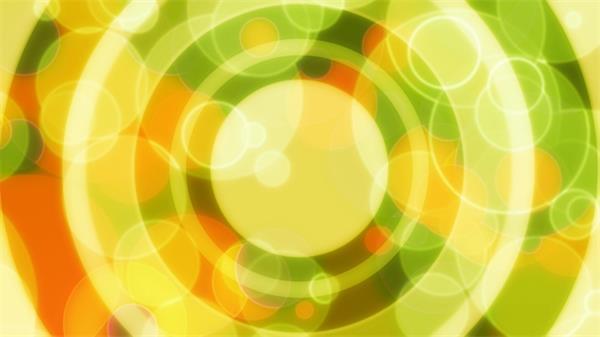 唯美黄色圆圈波动扩散缩放动态led背景视频素材
