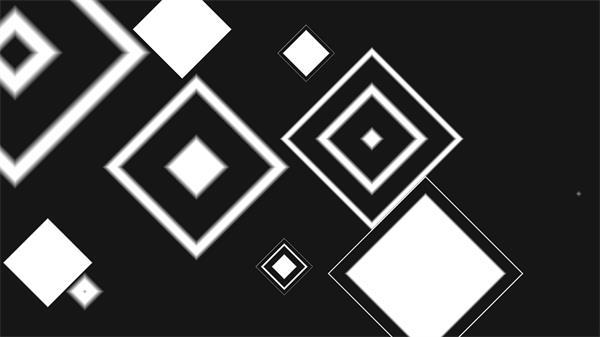 视觉冲击菱形方块瞬间浮现过渡视频素材