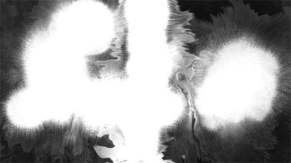 白色水墨过渡场景动态led背景视频素材