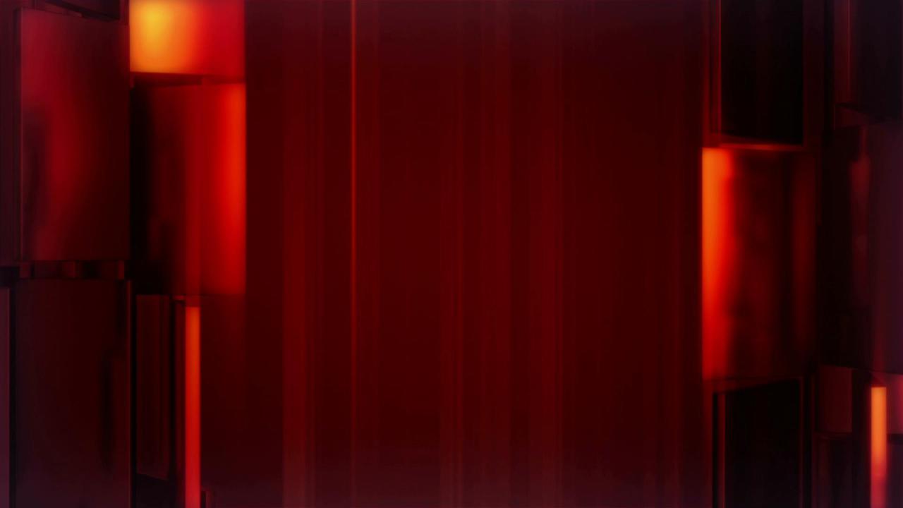 红色玻璃块流动高清背景视频素材