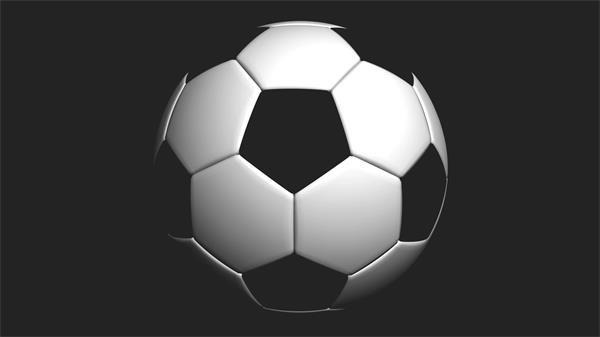 活力动感足球旋转微距拍摄视频素材