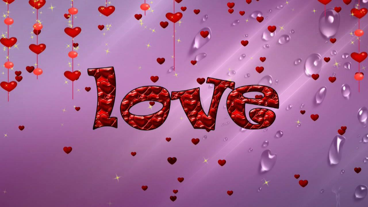 """婚庆庆典 红色""""love"""" 爱心飘落高清背景视频素材"""