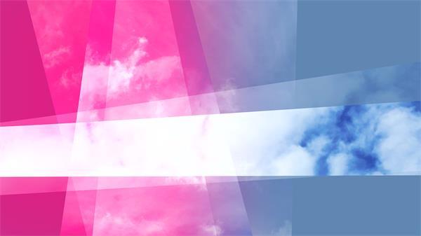 快速变换几何体叠加遮罩移动动感分割天空幻灯片动态视频素材