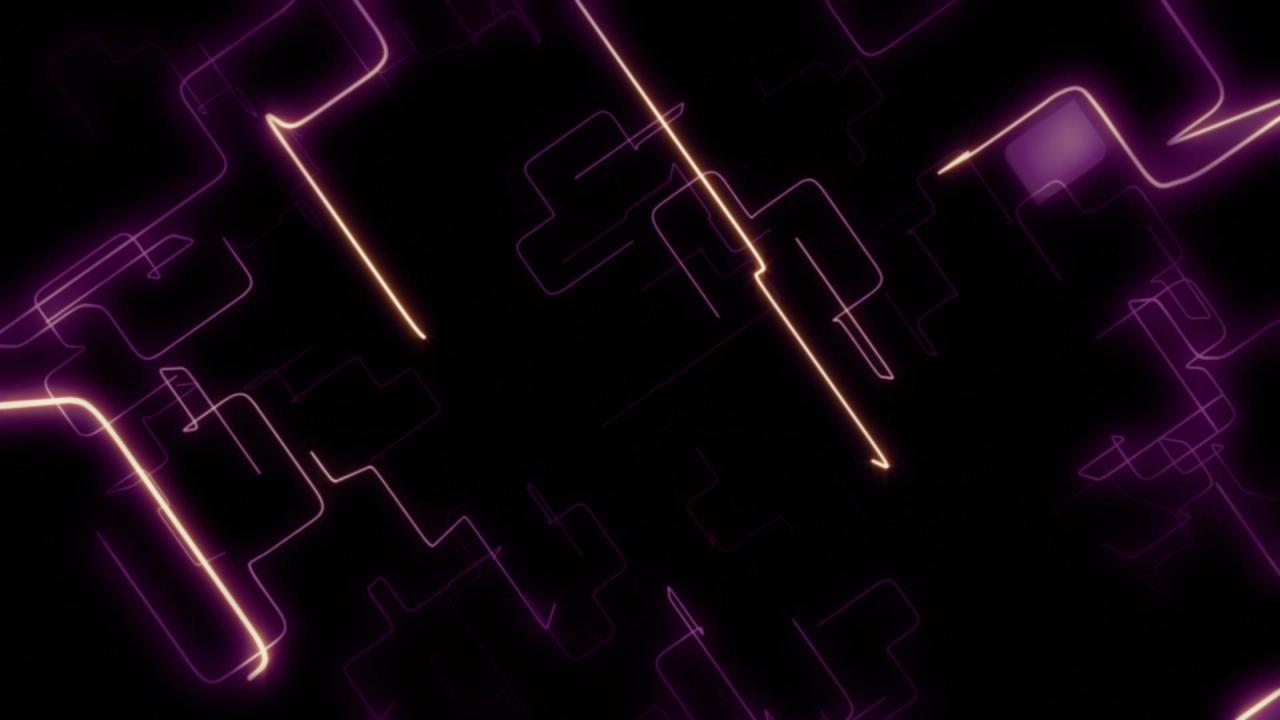 紫色激光电流高清背景视频素材