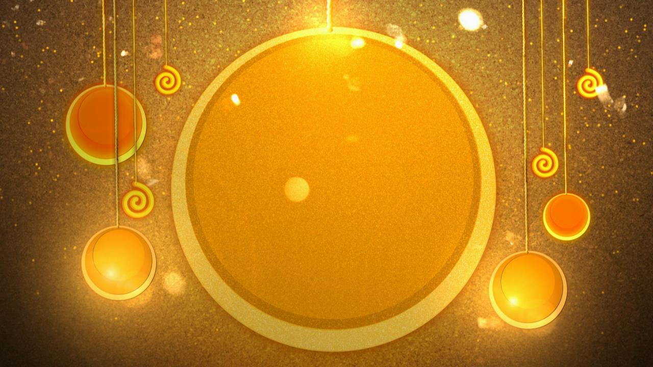金色五角星圆圈高清背景视频素材