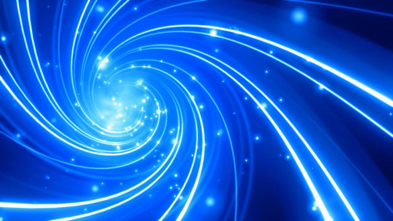 超炫蓝色粒子光线流转高清背景视频素材
