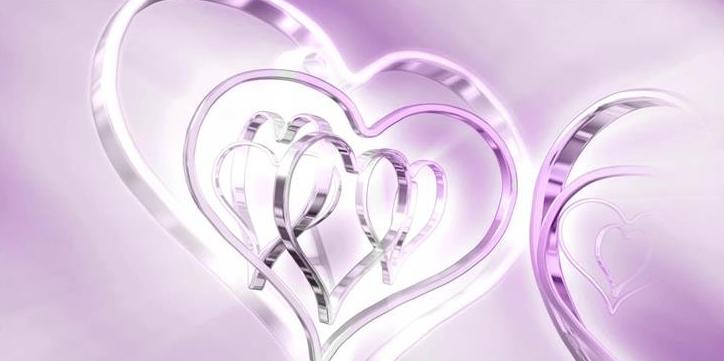 浪漫双重爱心循环旋转婚礼婚庆led动态背景视频素材