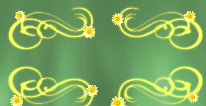 梦幻转圈菊花对称花纹边框led动态背景视频素材