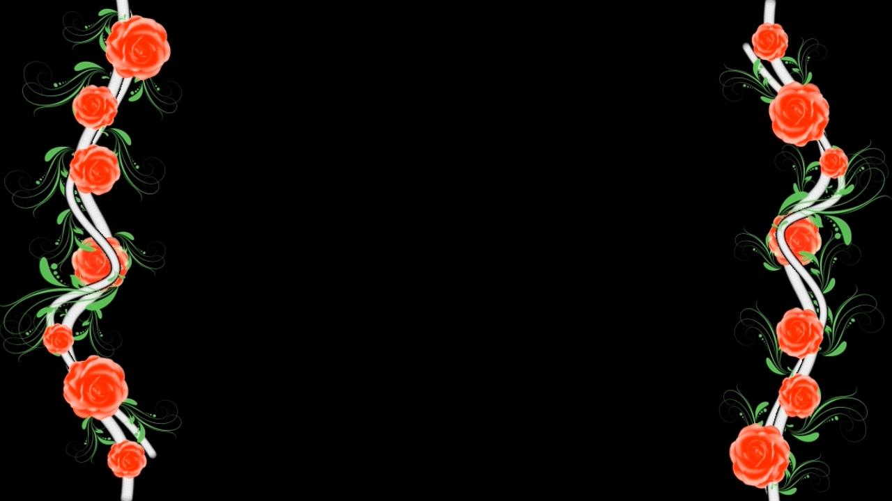 黑色直线边框矢量图
