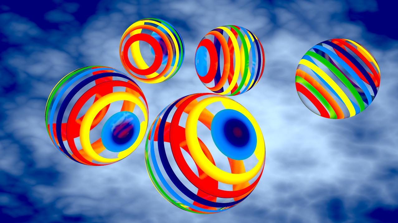c4d教程 球体环形彩带位移动画的制作