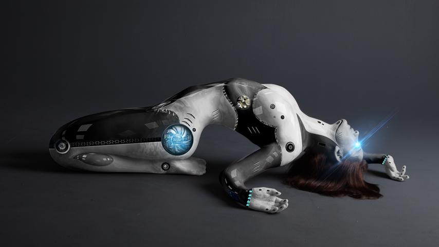 ps机器人创意合成