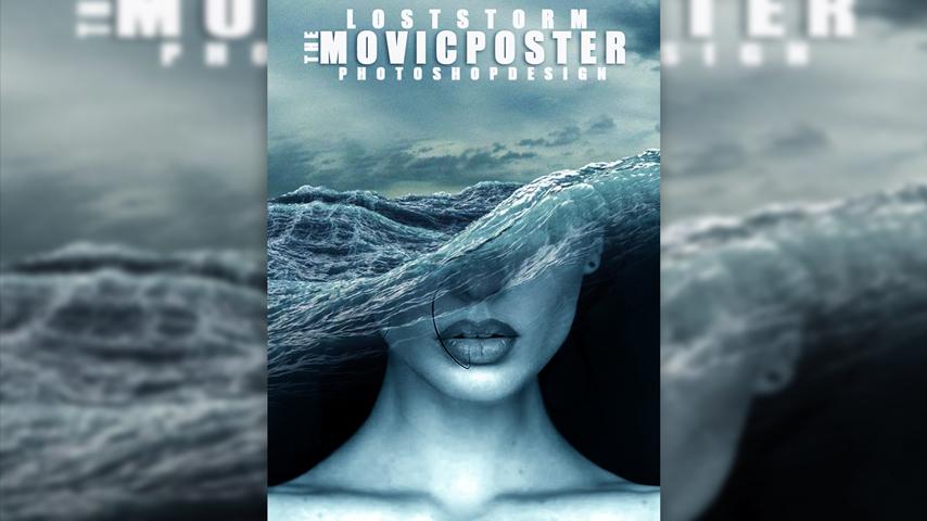 ps电影海报设计之海啸