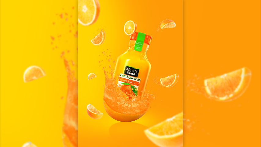 ps简单快速橘子饮料海报设计