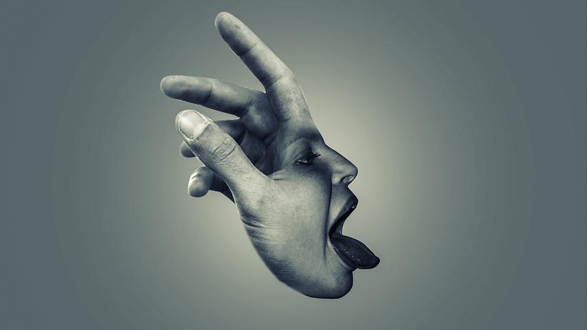 ps人脸与手创意合成