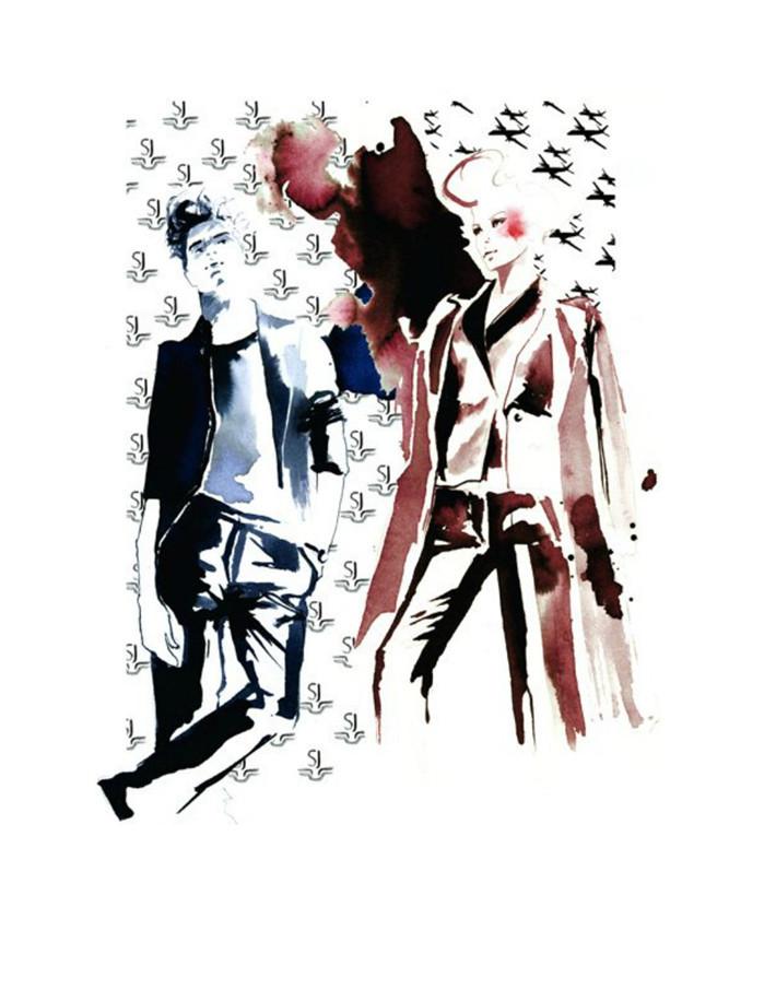 转载:国际服装品牌设计绘画艺术手稿 - 雷神作品