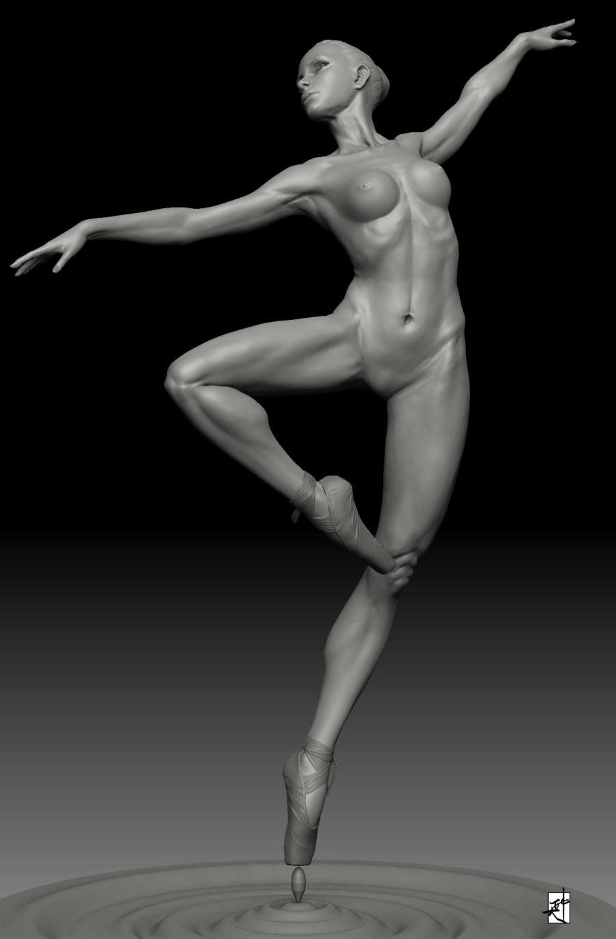 芭蕾舞蹈简笔画