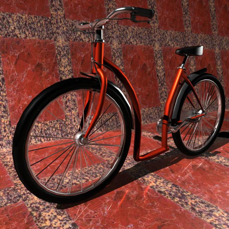 maya自行车制作