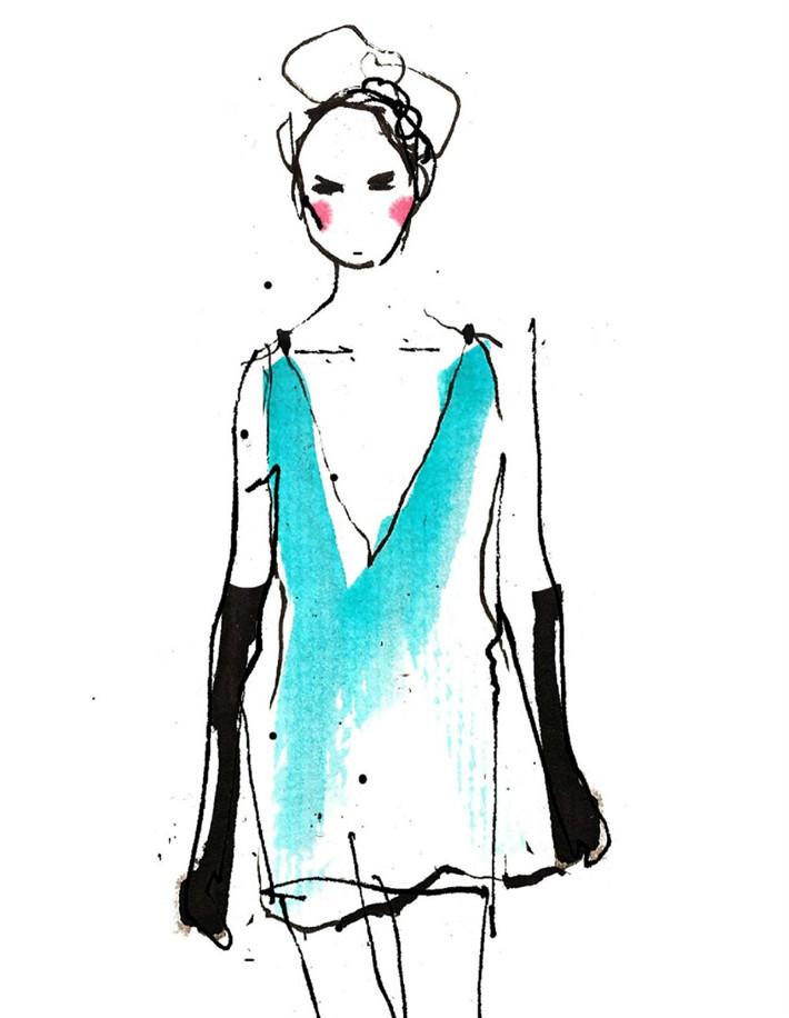 【原创】 【转载:国际服装品牌设计绘画艺术手稿】