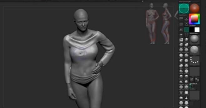 转载:zbrush雕刻衣服褶皱