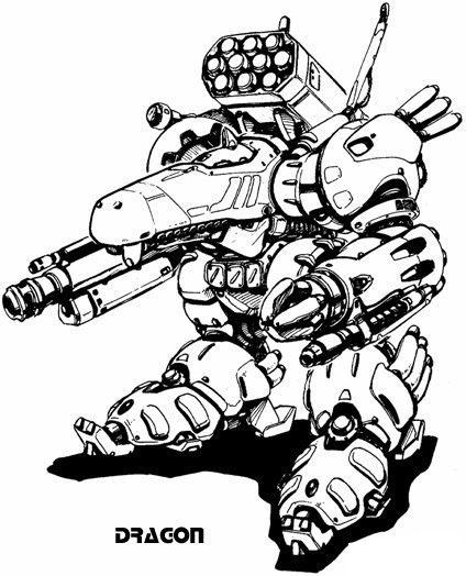 【原创】 【转载:国外机器人robot手绘原画欣赏】
