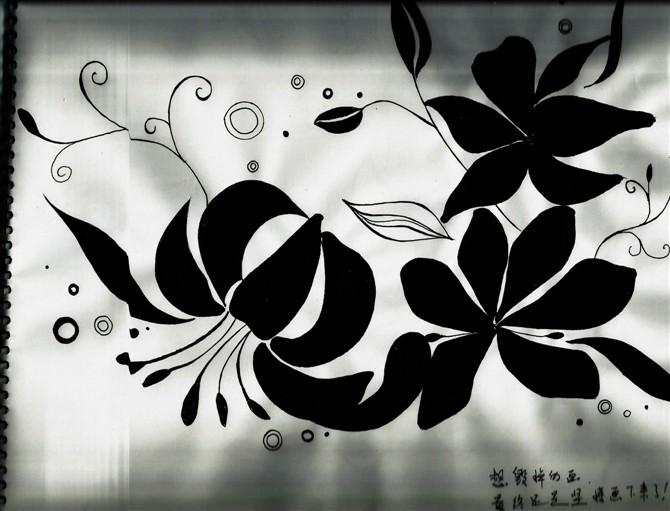 """【原创】 【转载:手绘黑白画""""花""""还是爱花】"""