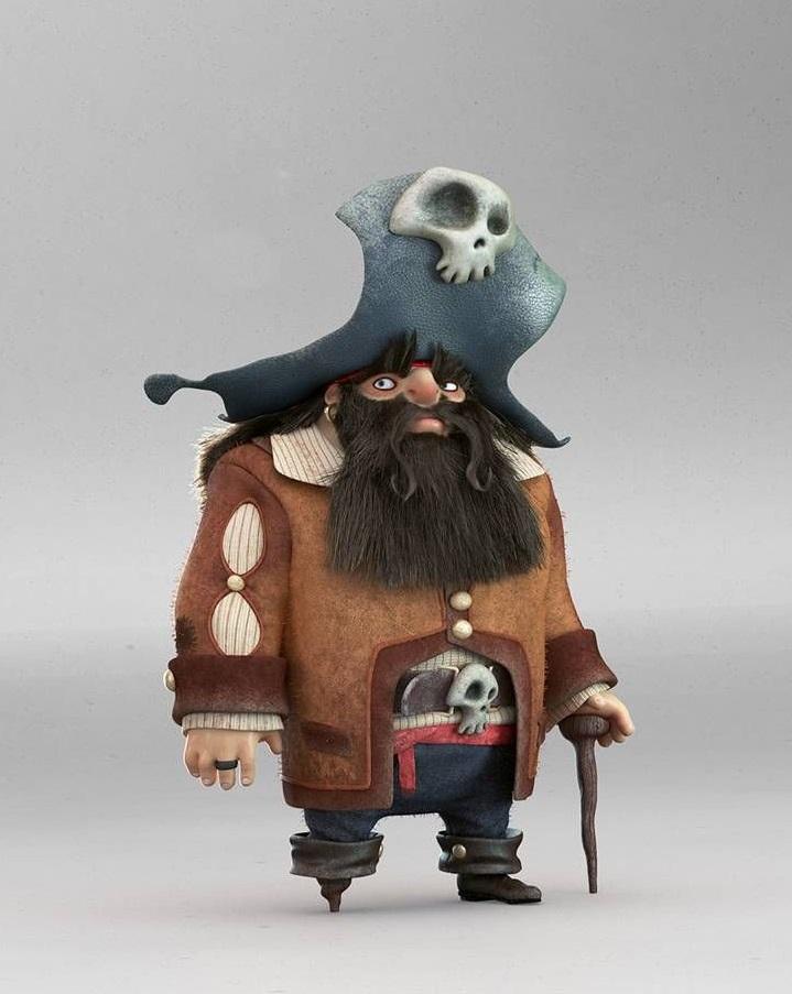 zbrush和3dsmax制作卡通海盗船长
