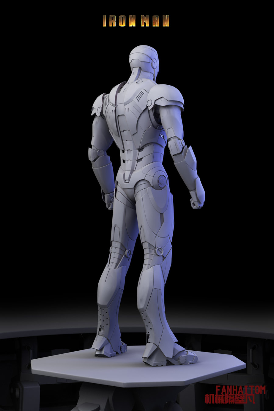雕塑動漫人物設計三視圖