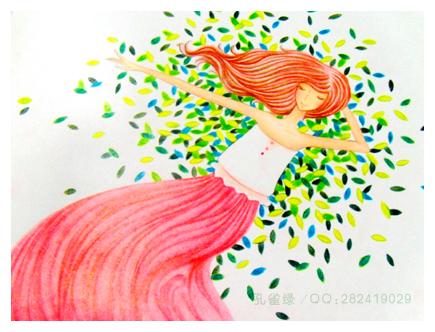 36色 铅笔画 简单手绘彩色铅笔画 彩色铅笔画人物
