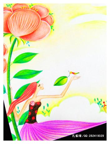 转载:我的彩色铅笔画 - curtain作品 - 作品 - 直线网
